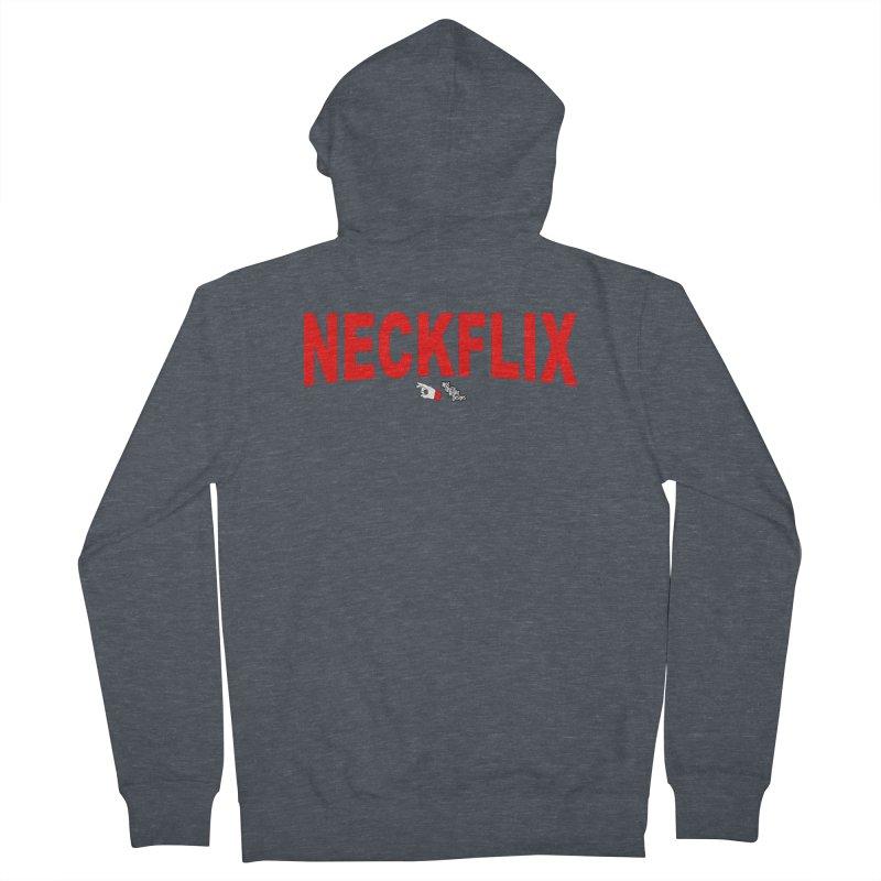 NECKFLIX Men's Zip-Up Hoody by NotQuiteRightDesigns