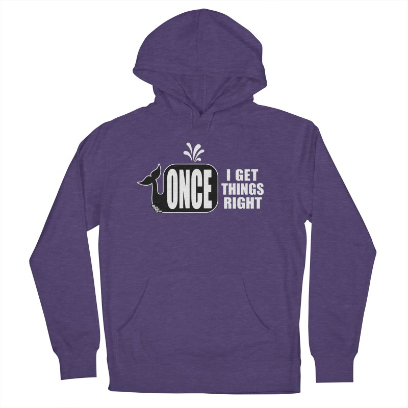 ONCE IN A WHALE Women's Pullover Hoody by NotQuiteRightDesigns