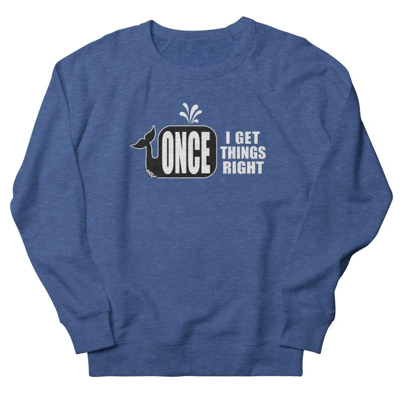 ONCE IN A WHALE Men's Sweatshirt by NotQuiteRightDesigns