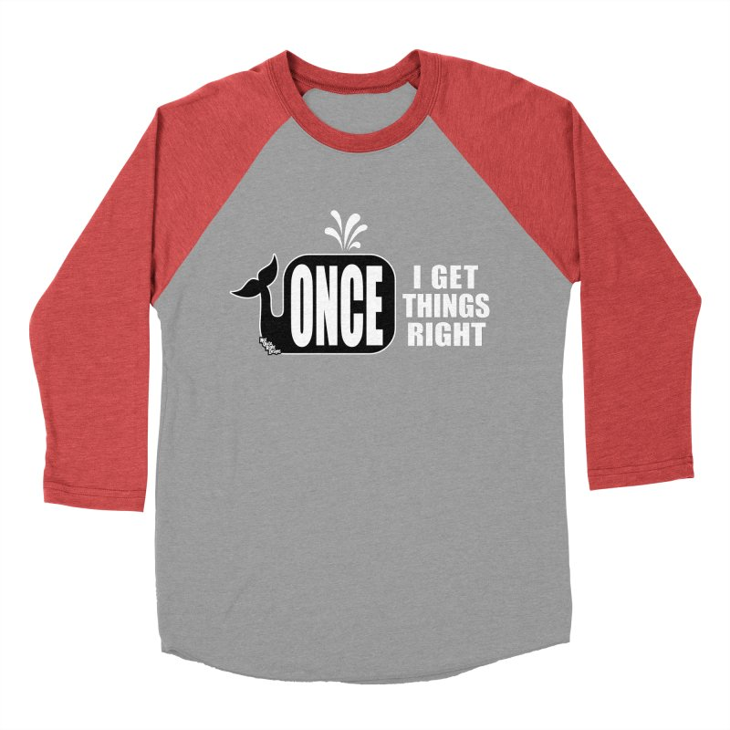 ONCE IN A WHALE Men's Baseball Triblend T-Shirt by NotQuiteRightDesigns