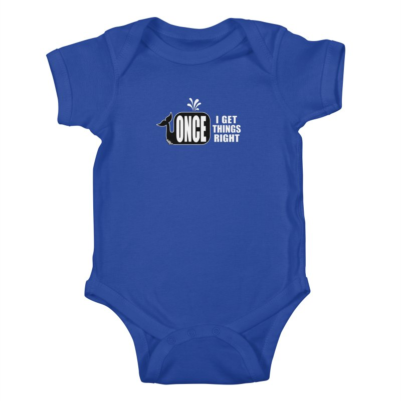 ONCE IN A WHALE Kids Baby Bodysuit by NotQuiteRightDesigns