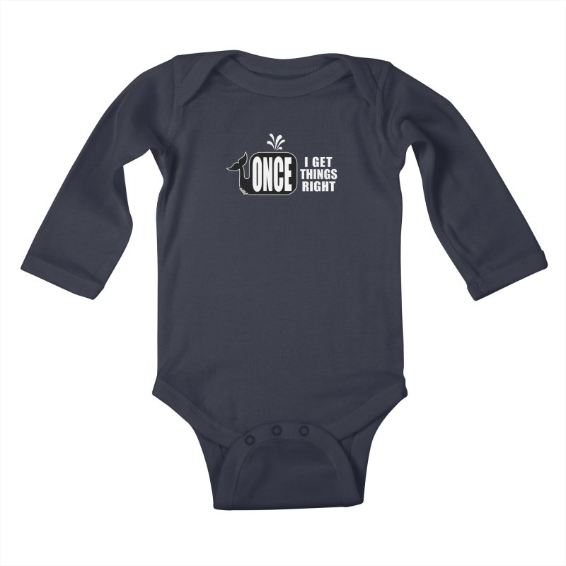 ONCE IN A WHALE Kids Baby Longsleeve Bodysuit by NotQuiteRightDesigns