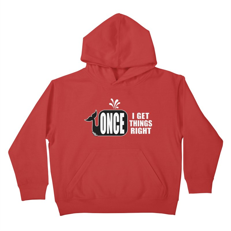 ONCE IN A WHALE Kids Pullover Hoody by NotQuiteRightDesigns