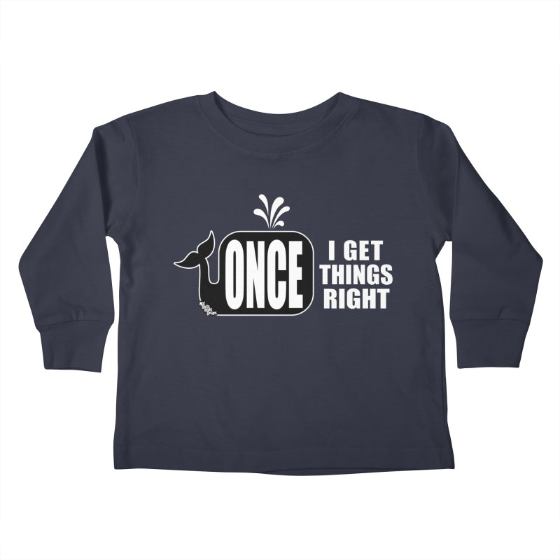 ONCE IN A WHALE Kids Toddler Longsleeve T-Shirt by NotQuiteRightDesigns