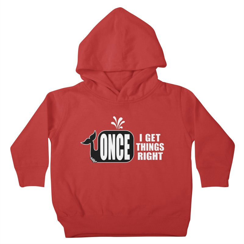 ONCE IN A WHALE Kids Toddler Pullover Hoody by NotQuiteRightDesigns