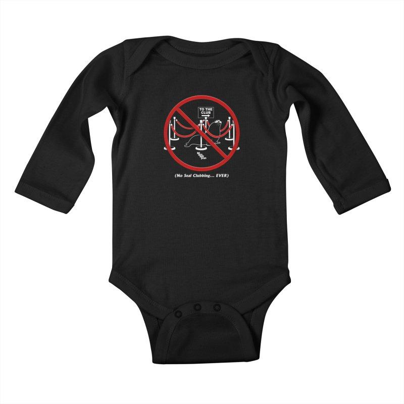 NO SEAL CLUBBING... EVER Kids Baby Longsleeve Bodysuit by NotQuiteRightDesigns