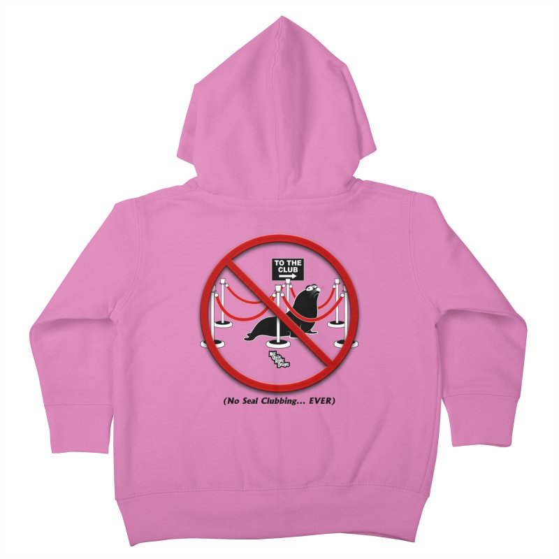 NO SEAL CLUBBING... EVER (on lights) Kids Toddler Zip-Up Hoody by NotQuiteRightDesigns