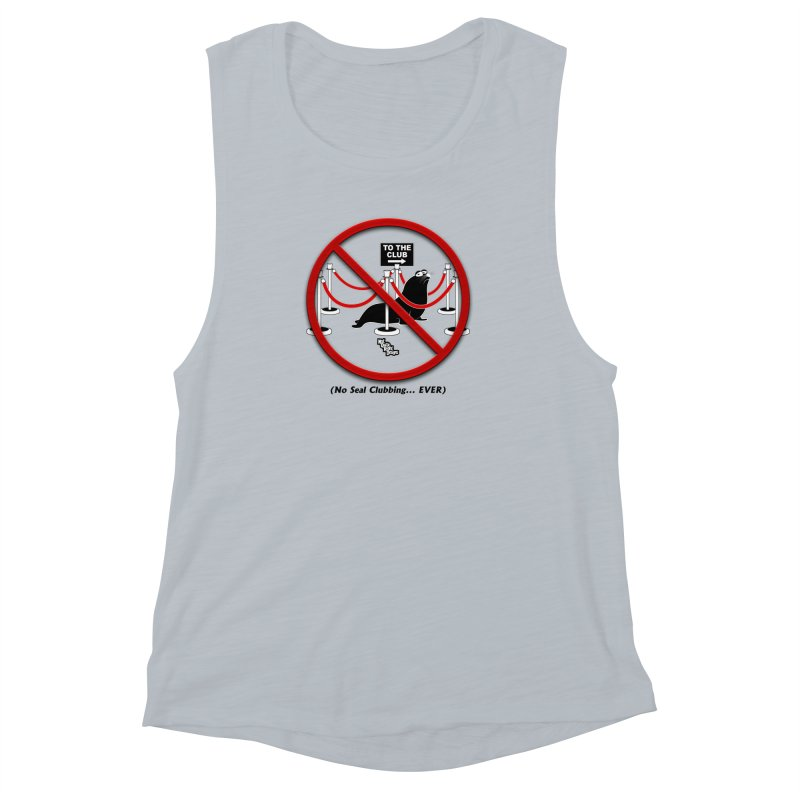 NO SEAL CLUBBING... EVER (on lights) Women's Muscle Tank by NotQuiteRightDesigns