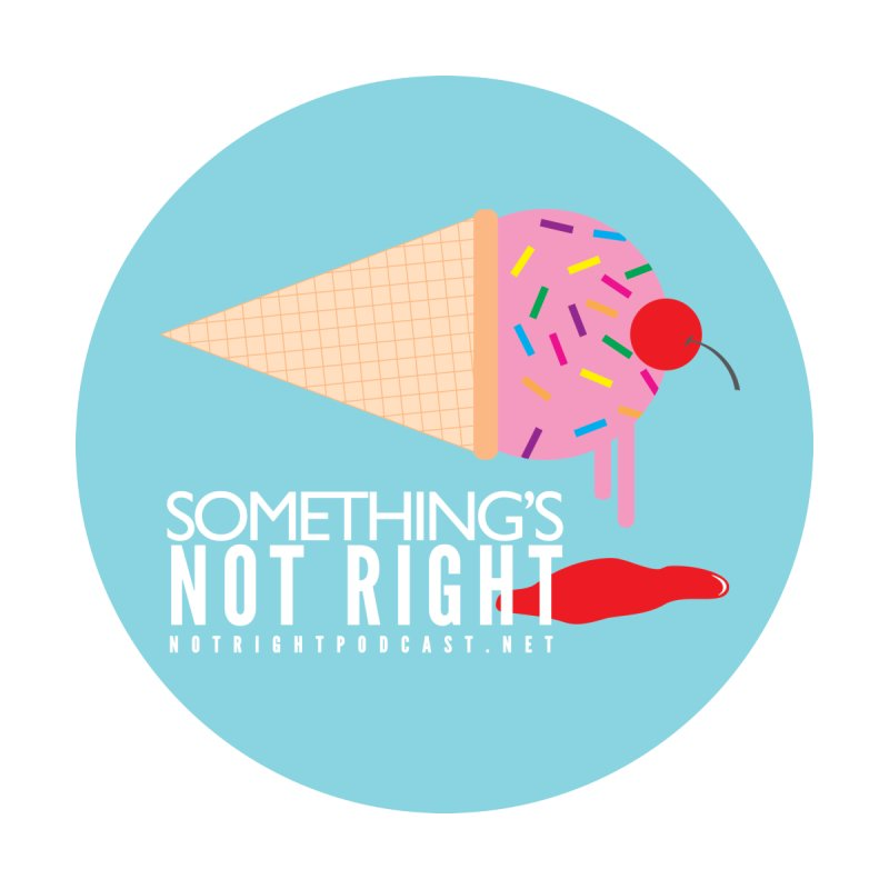 Something's Not Right logo Accessories Bag by Something's Not Right