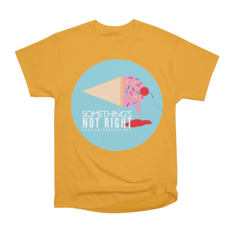 Something's Not Right logo Men's Heavyweight T-Shirt by Something's Not Right
