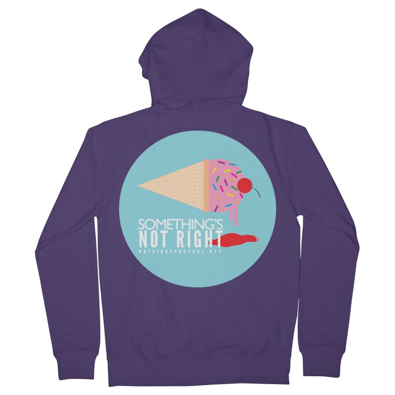 Something's Not Right logo Women's Zip-Up Hoody by Something's Not Right