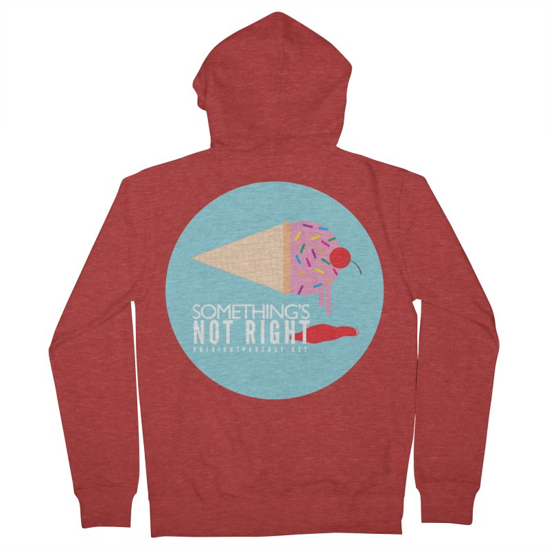 Something's Not Right logo Men's French Terry Zip-Up Hoody by Something's Not Right