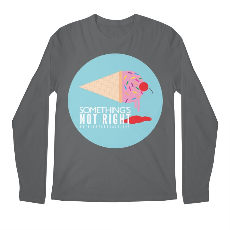 Something's Not Right logo Men's Longsleeve T-Shirt by Something's Not Right