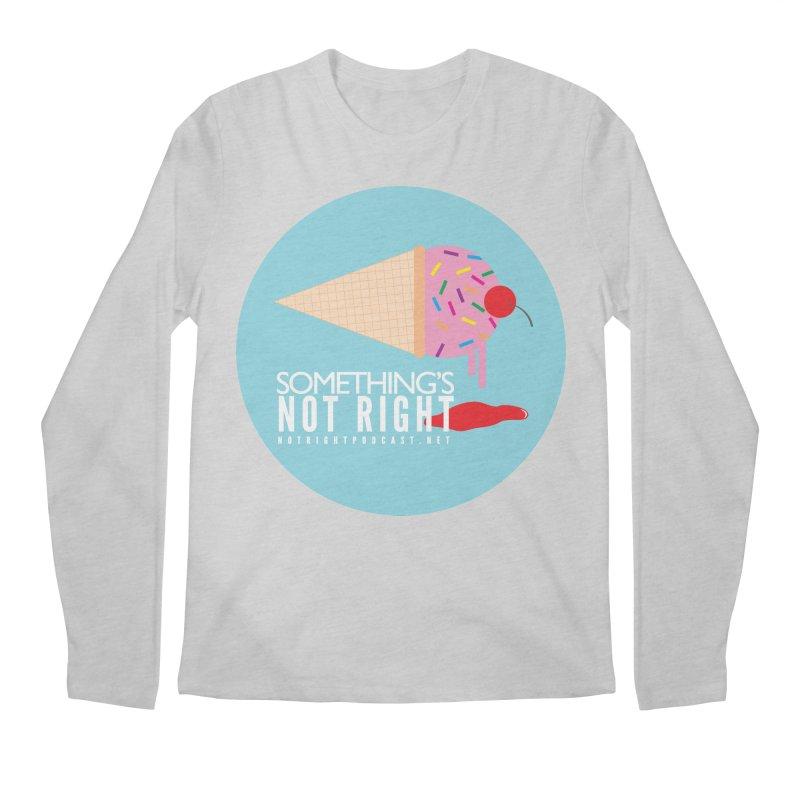 Something's Not Right logo Men's Regular Longsleeve T-Shirt by Something's Not Right