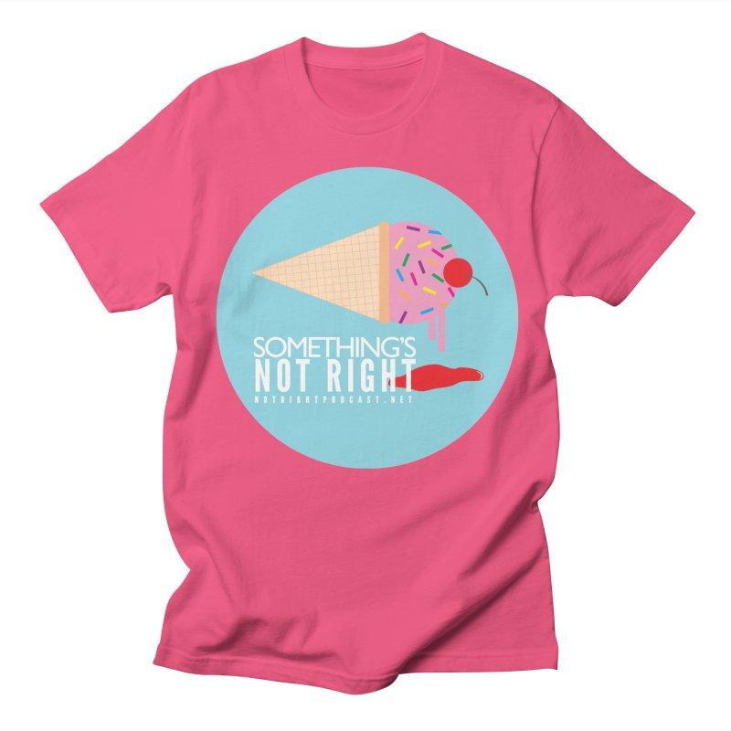 Something's Not Right logo Men's Regular T-Shirt by Something's Not Right