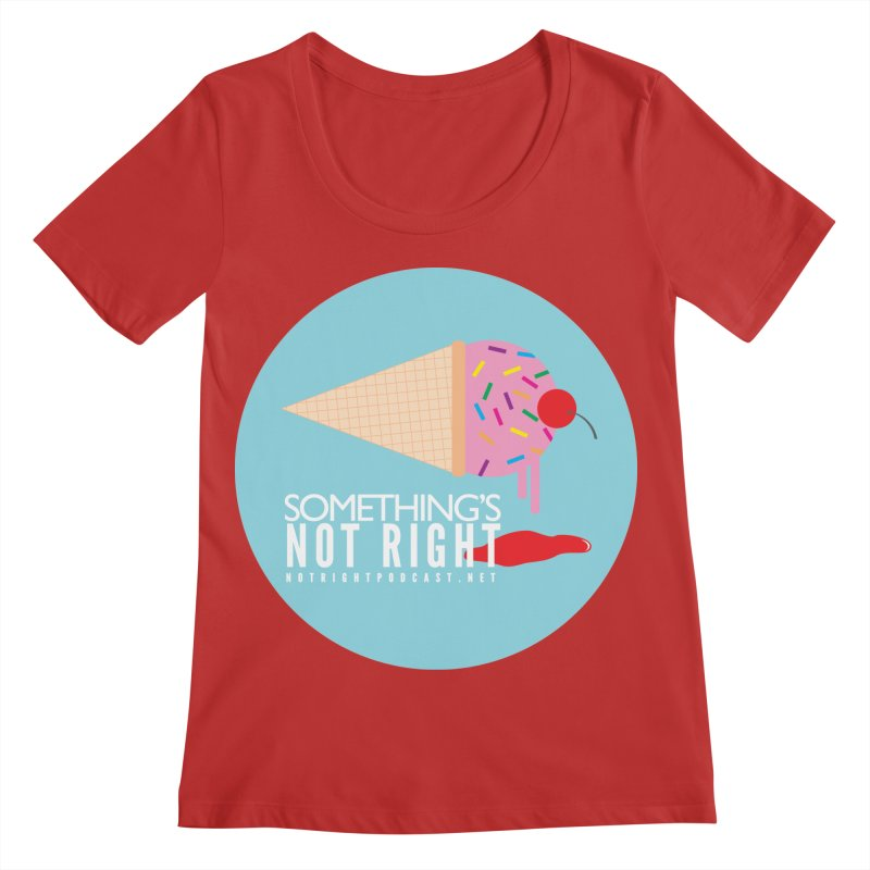 Something's Not Right logo Women's Regular Scoop Neck by Something's Not Right