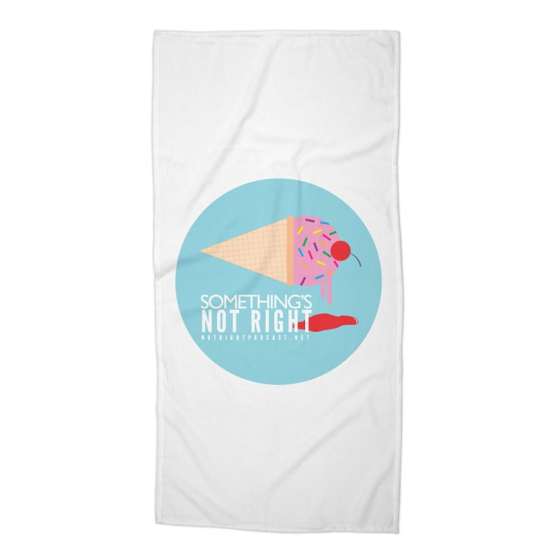 Something's Not Right logo Accessories Beach Towel by Something's Not Right