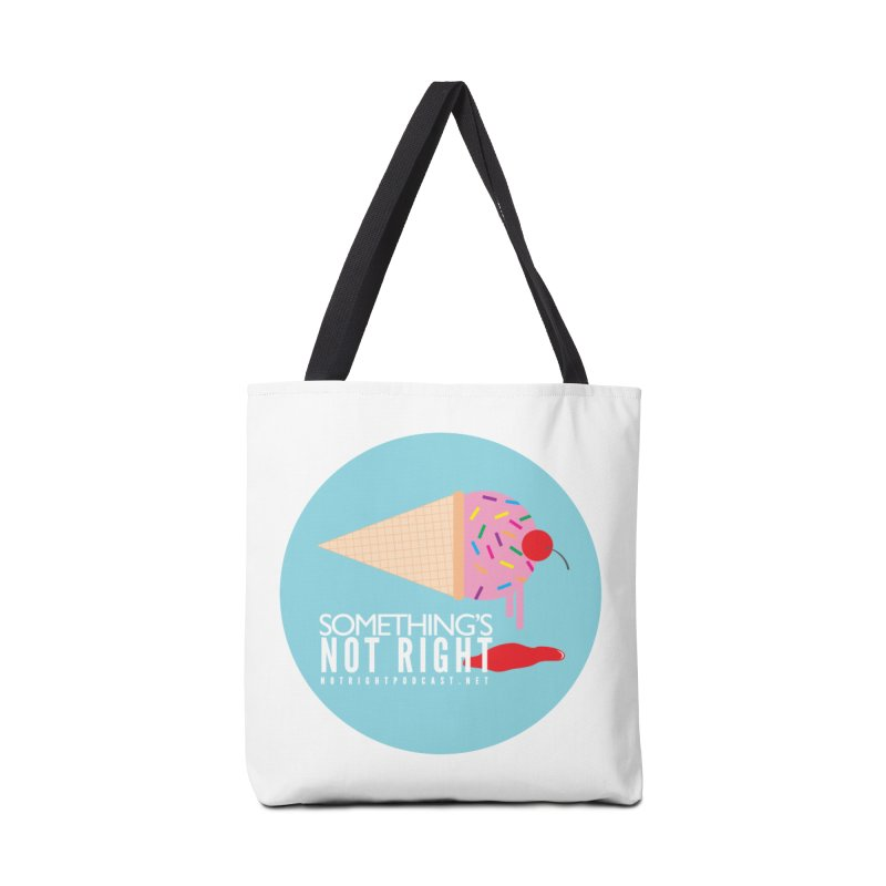 Something's Not Right logo Accessories Tote Bag Bag by Something's Not Right