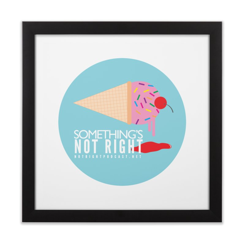 Something's Not Right logo Home Framed Fine Art Print by Something's Not Right