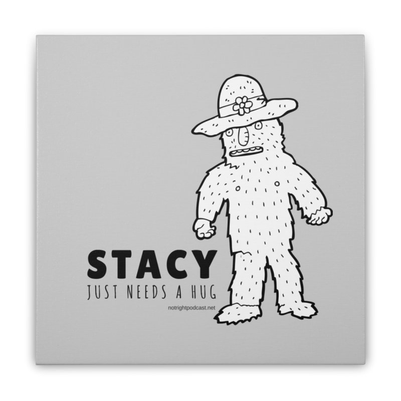 Stacy Just Needs a Hug Home Stretched Canvas by Something's Not Right