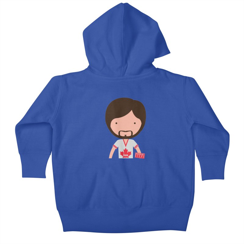 Internet Steve Kids Baby Zip-Up Hoody by Something's Not Right