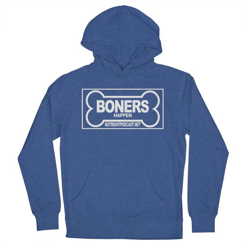 Boners Happen For Mayor Women's French Terry Pullover Hoody by Something's Not Right