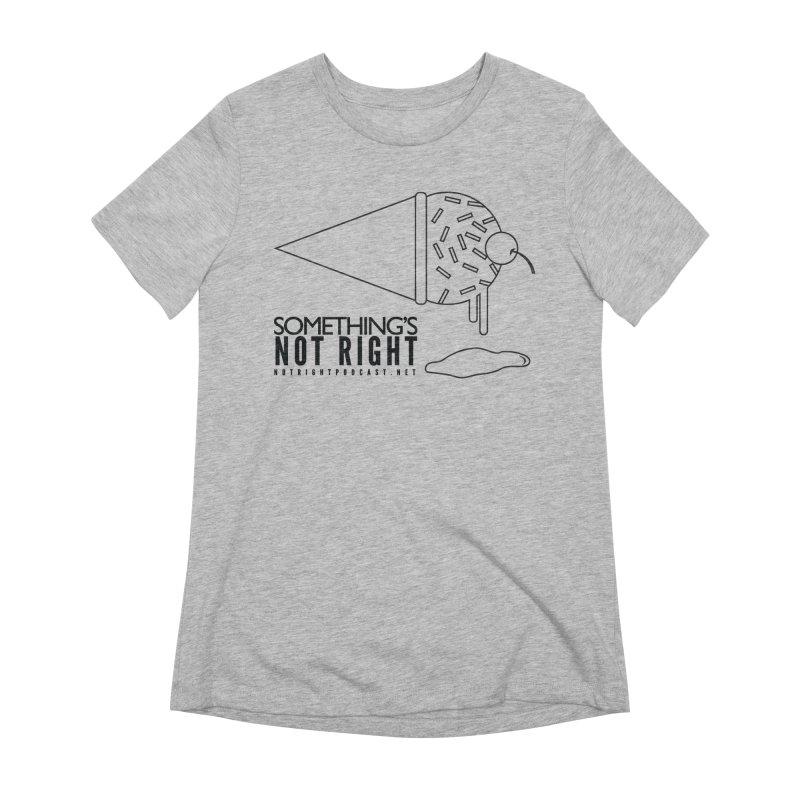 SNR Alternate Logo - Black Women's Extra Soft T-Shirt by Something's Not Right
