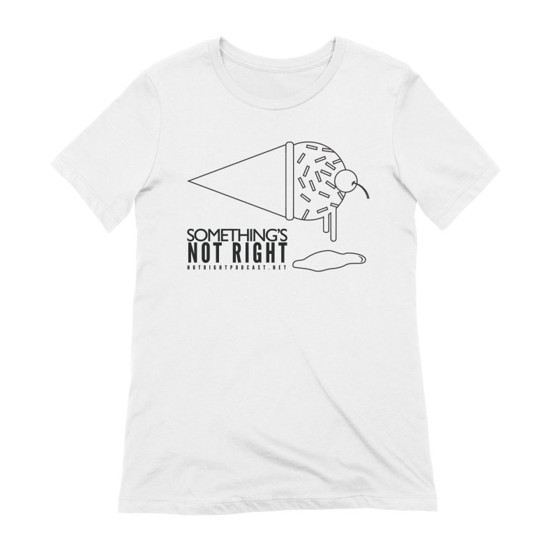 SNR Alternate Logo - Black Women's T-Shirt by Something's Not Right