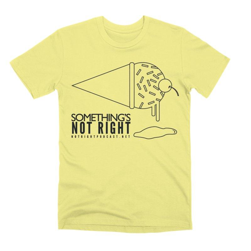 SNR Alternate Logo - Black Men's Premium T-Shirt by Something's Not Right