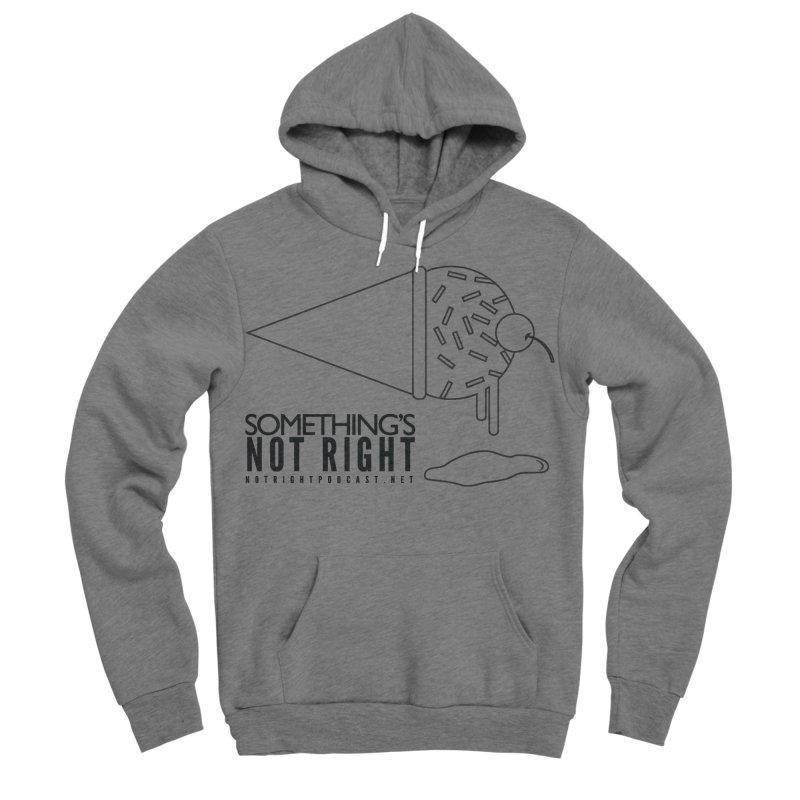 SNR Alternate Logo - Black Men's Sponge Fleece Pullover Hoody by Something's Not Right