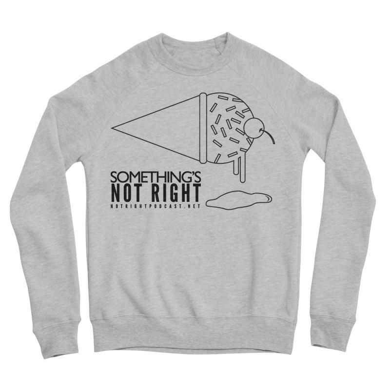 SNR Alternate Logo - Black Men's Sponge Fleece Sweatshirt by Something's Not Right