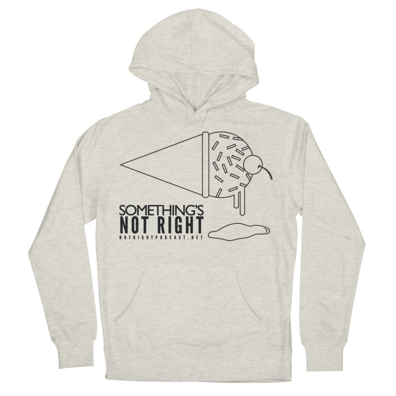SNR Alternate Logo - Black Women's French Terry Pullover Hoody by Something's Not Right