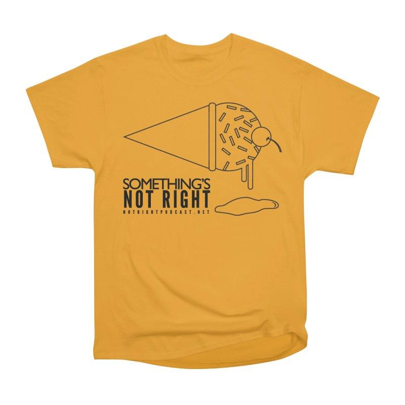 SNR Alternate Logo - Black Men's Heavyweight T-Shirt by Something's Not Right