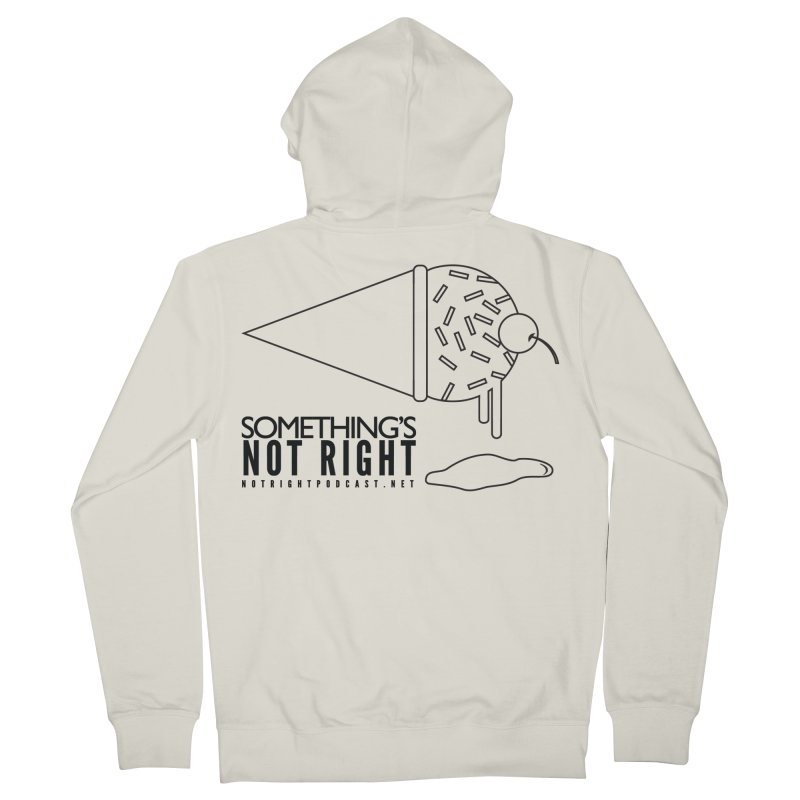SNR Alternate Logo - Black Women's French Terry Zip-Up Hoody by Something's Not Right