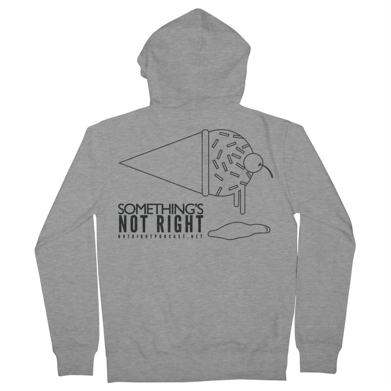 SNR Alternate Logo - Black Men's French Terry Zip-Up Hoody by Something's Not Right