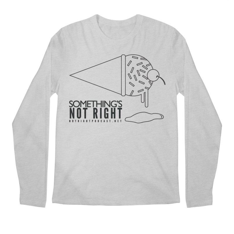 SNR Alternate Logo - Black Men's Longsleeve T-Shirt by Something's Not Right