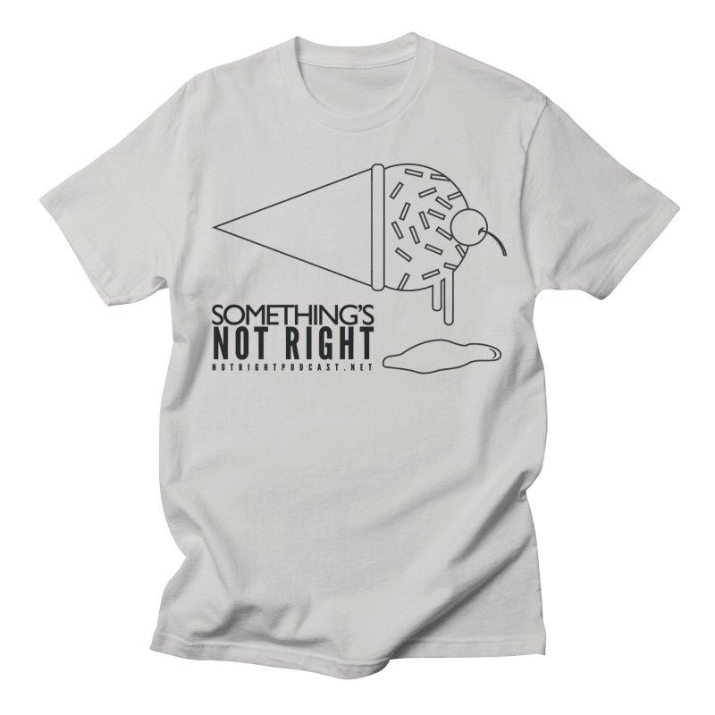 SNR Alternate Logo - Black Men's Regular T-Shirt by Something's Not Right