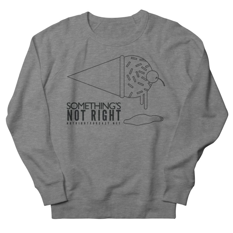 SNR Alternate Logo - Black Men's French Terry Sweatshirt by Something's Not Right