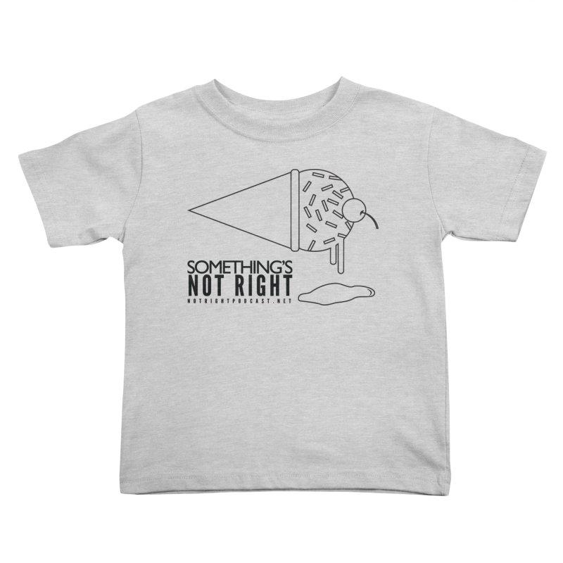 SNR Alternate Logo - Black Kids Toddler T-Shirt by Something's Not Right
