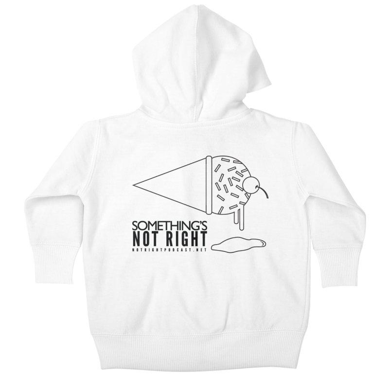 SNR Alternate Logo - Black Kids Baby Zip-Up Hoody by Something's Not Right