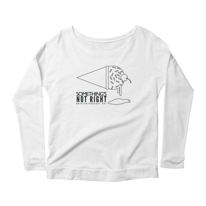 SNR Alternate Logo - Black Women's Scoop Neck Longsleeve T-Shirt by Something's Not Right