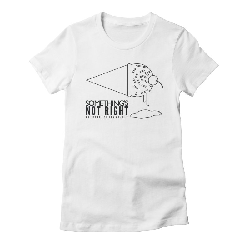 SNR Alternate Logo - Black Women's Fitted T-Shirt by Something's Not Right