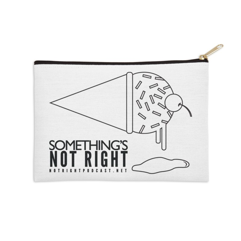 SNR Alternate Logo - Black Accessories Zip Pouch by Something's Not Right
