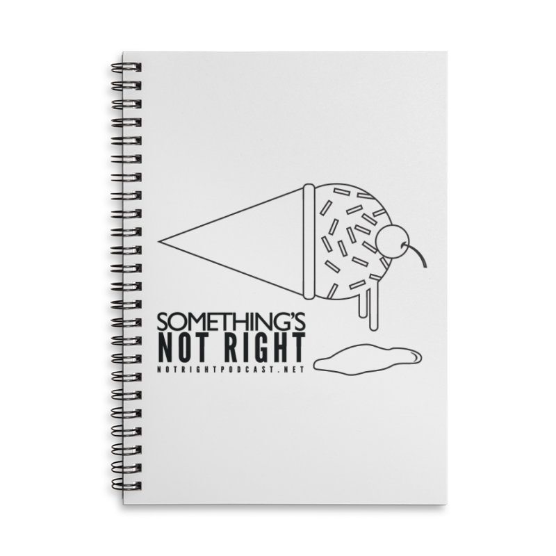 SNR Alternate Logo - Black Accessories Lined Spiral Notebook by Something's Not Right