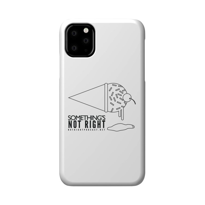 SNR Alternate Logo - Black Accessories Phone Case by Something's Not Right