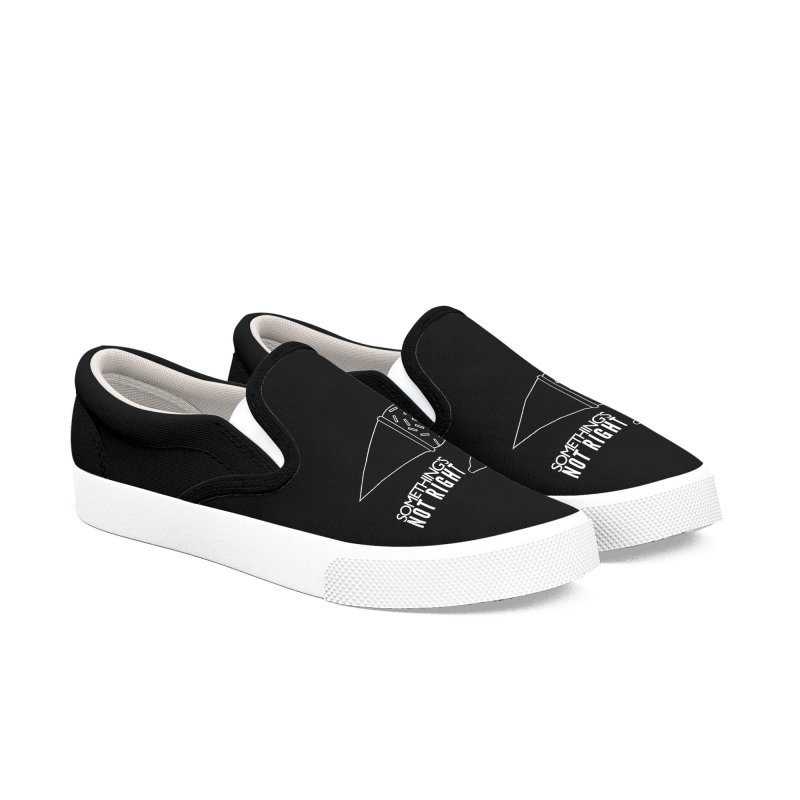 SNR - Alternative Logo - White Women's Slip-On Shoes by Something's Not Right