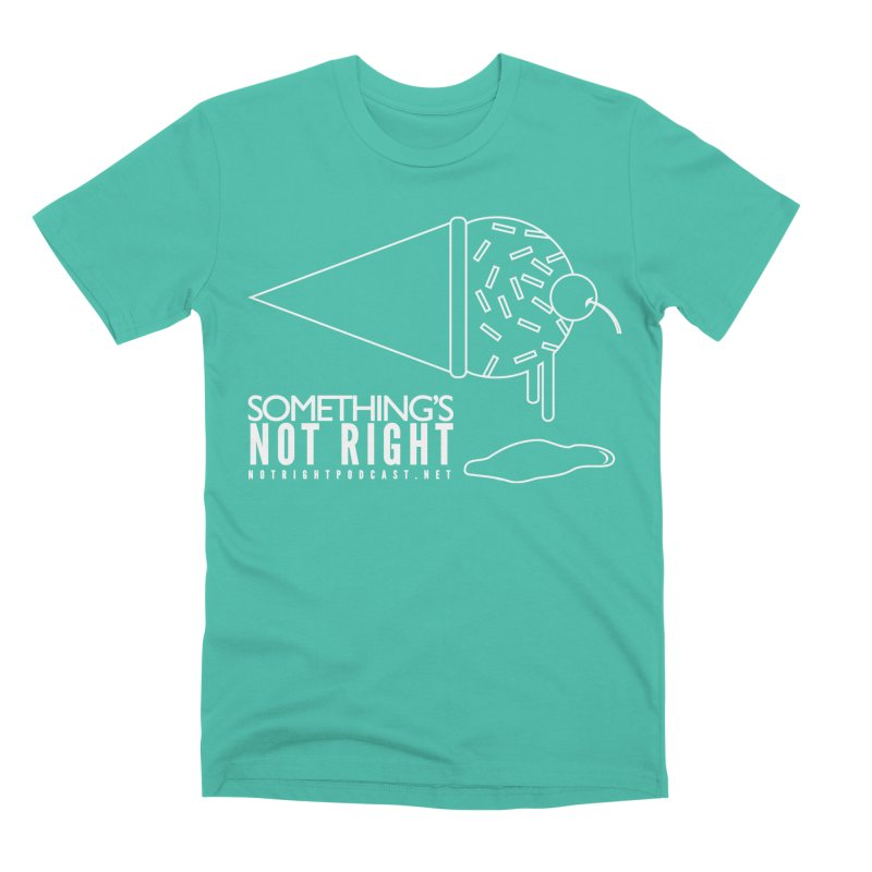 SNR - Alternative Logo - White Men's Premium T-Shirt by Something's Not Right