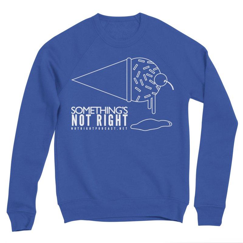 SNR - Alternative Logo - White Men's Sweatshirt by Something's Not Right
