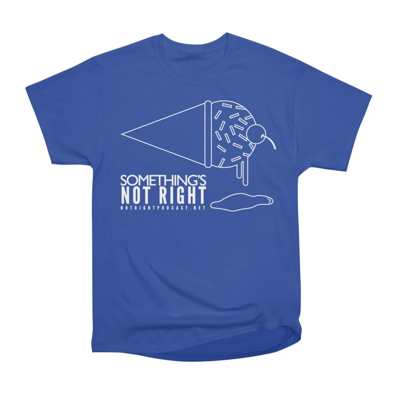 SNR - Alternative Logo - White Men's Heavyweight T-Shirt by Something's Not Right