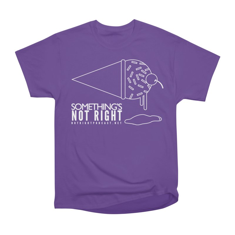 SNR - Alternative Logo - White Men's Heavyweight T-Shirt by Something's Not Right